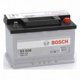 Cadillac CTS battery to fit 6.2 Petrol (2008-) compatible part Bosch S3 Car Battery 12V 70Ah 640CCA S3008 Type 096