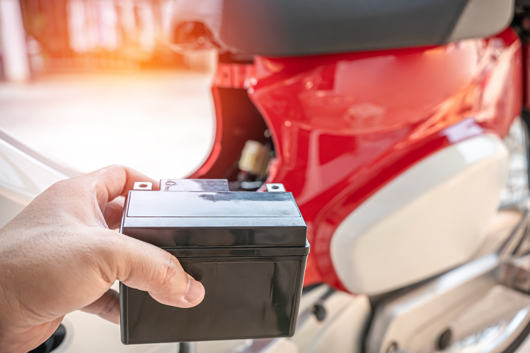 how to maintain motorcycle batteries in the uk