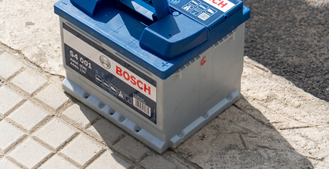 how to install a bosch car battery