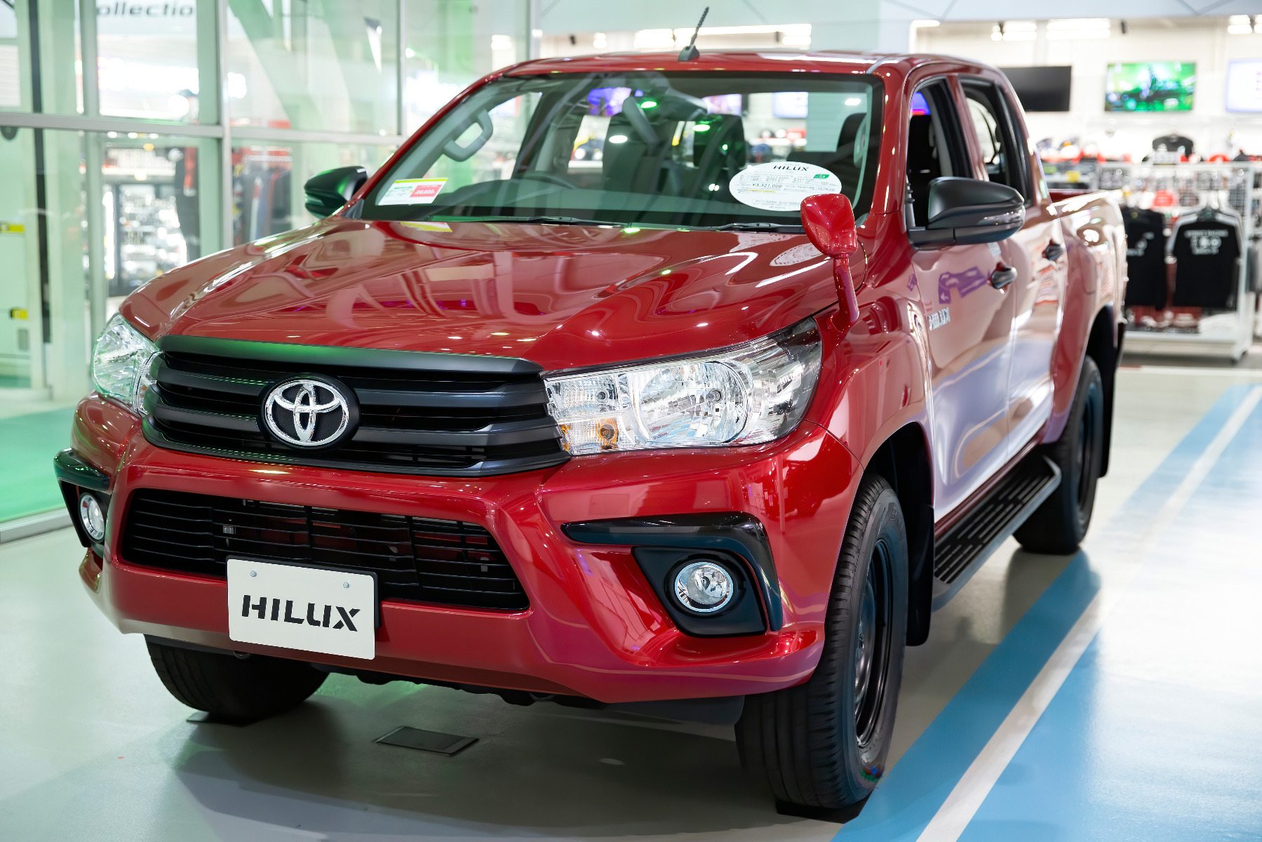 where to look for Toyota Hilux two batteries